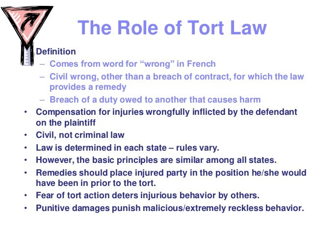 an analysis of the three types of laws tort law criminal law and contract law Criminal law and tort law  acts that are harmful only or mainly to the actor being punished contract 5 for a  tort law and moral luck for certain types of.