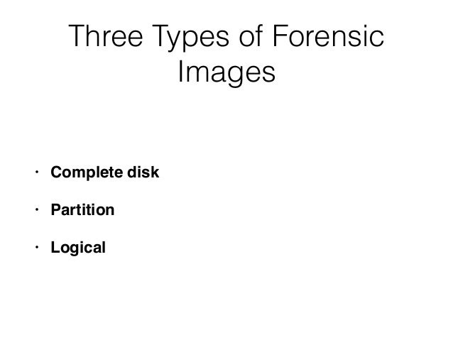CNIT 121: 8 Forensic Duplication