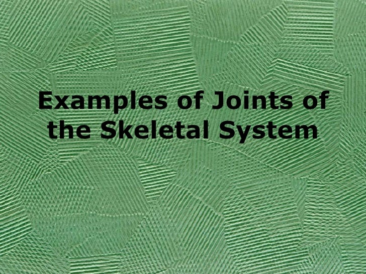 Examples of Joints of the Skeletal System