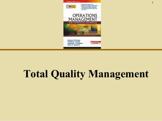 1  Total Quality Management