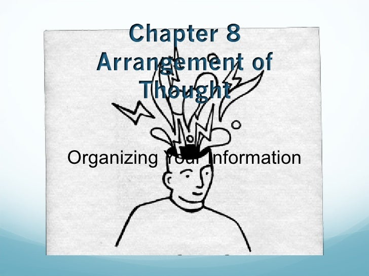 Organizing Your Information