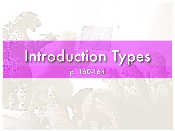Introduction Types       p. 160-164