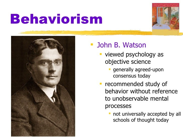 john b watson essay Free essay: a learning, or behavioral theory, in terms of human development,   behavior or learning theorists: ivan pavlov, john watson, and b f skinner.