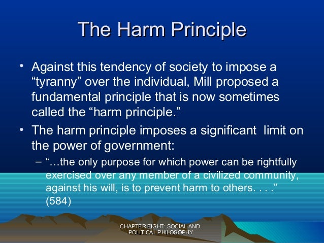 harm principle essay Free college essay criminalizing conduct: harm principle re-considered criminalizing conduct: harm principle re-considered synopsis to criminalize a.