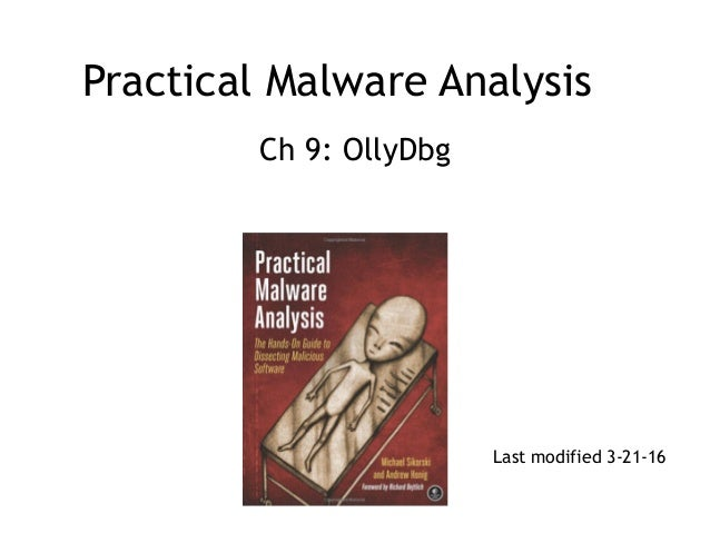 Practical Malware Analysis: Ch 9: OllyDbg