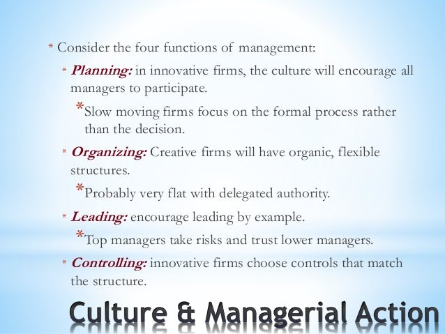 planning organizing leading and controlling example