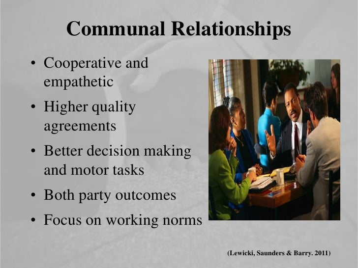negotiator and relationship