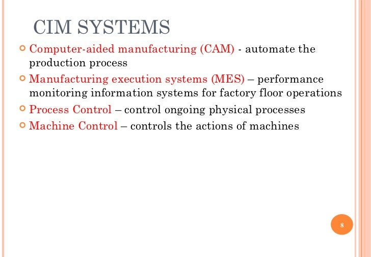 Ch9 computer integrated manufacturing