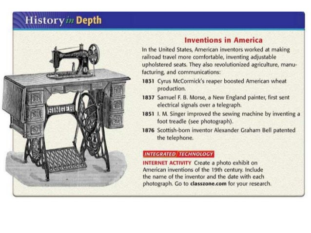 Ch40 Industrial Revolution Interesting Who Invented The Sewing Machine In The Industrial Revolution