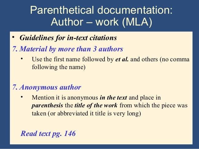 using et al with investigation paper