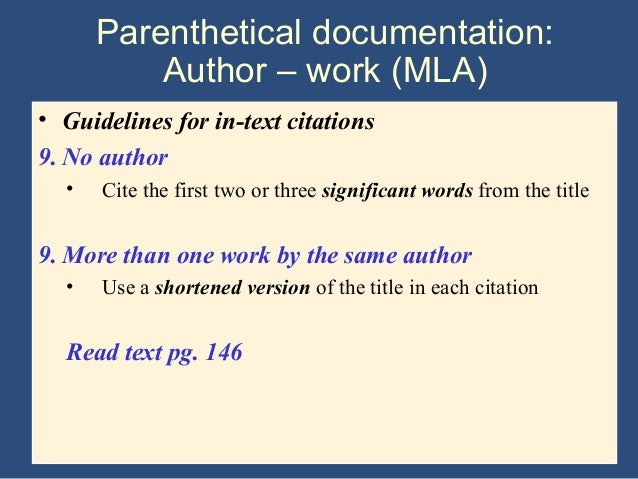 Writing The Research Paper A Handbook (7th ed) - Ch 9 mla system
