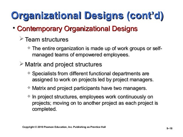 organizational structure and work design Even if the organizational structure of today's hospitals is still very divided in units  in  purpose of this work that aims at determining how organizational design.