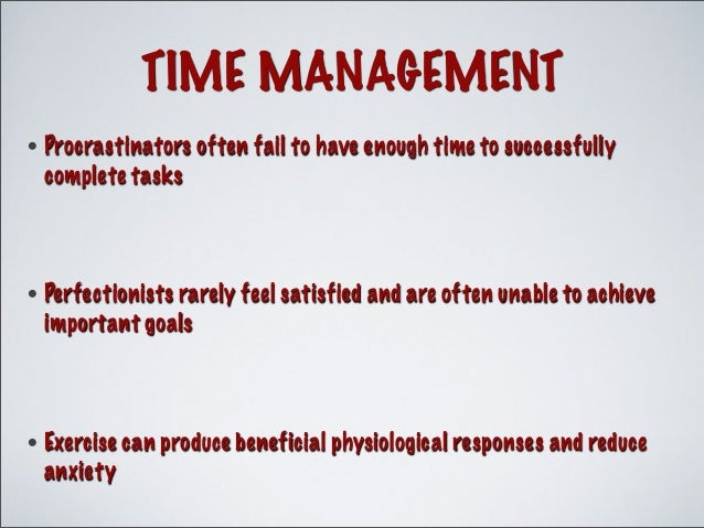 time and stress mgmt Learn how to manage the causes of stress and find out about useful stress management techniques.