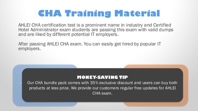 Latest CHA Exam Training Material with CHA Practice Test new questions