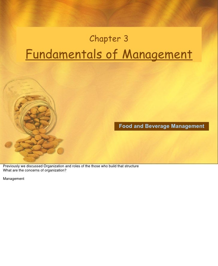 Chapter 3               Fundamentals of Management                                                                        ...