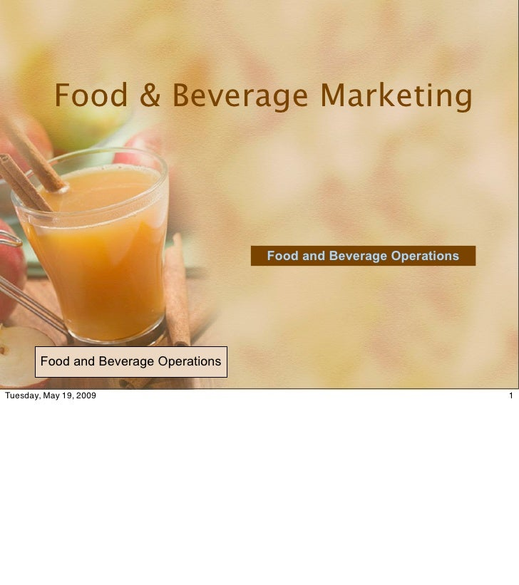 Food & Beverage Marketing                                           Food and Beverage Operations             Food and Beve...