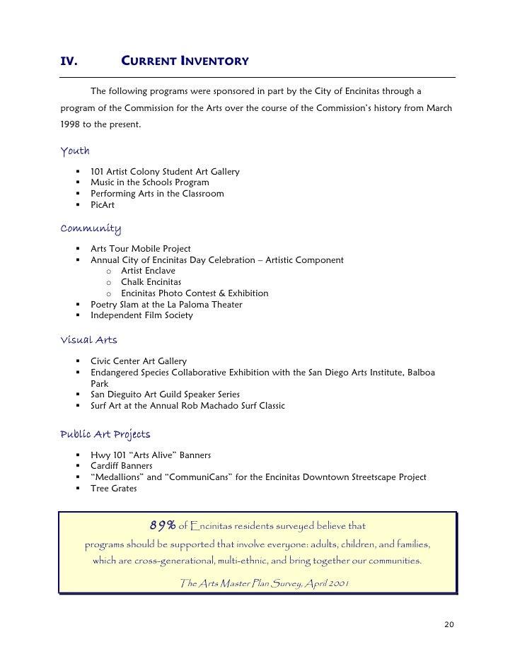 Encinitas 101 Mainstreet Association: Encinitas Arts Master Plan