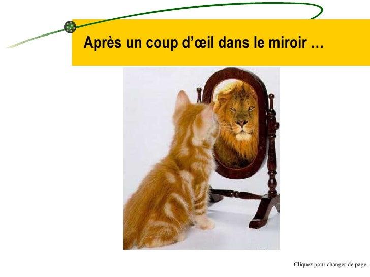 Après un coup d'œil dans le miroir … Cliquez pour changer de page