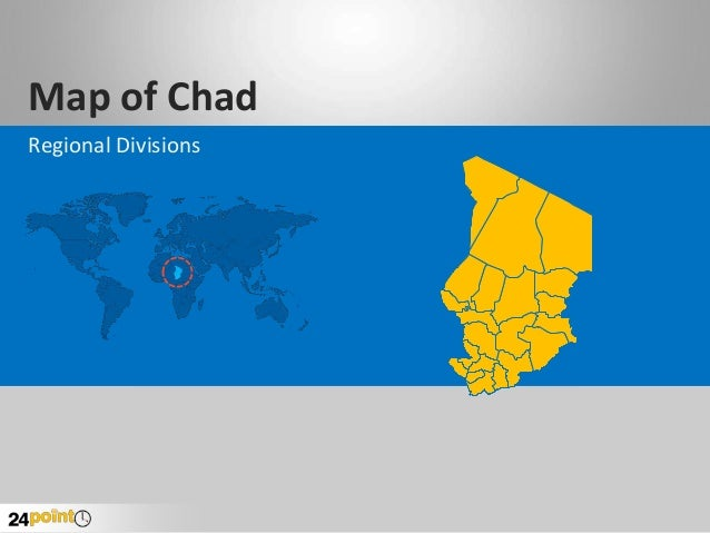 Map of Chad Regional Divisions