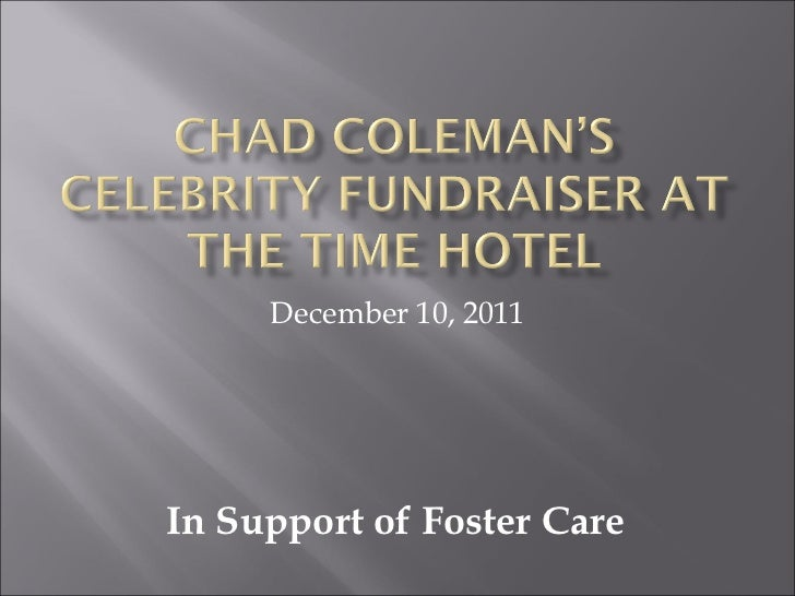 December 10, 2011 In Support of Foster Care
