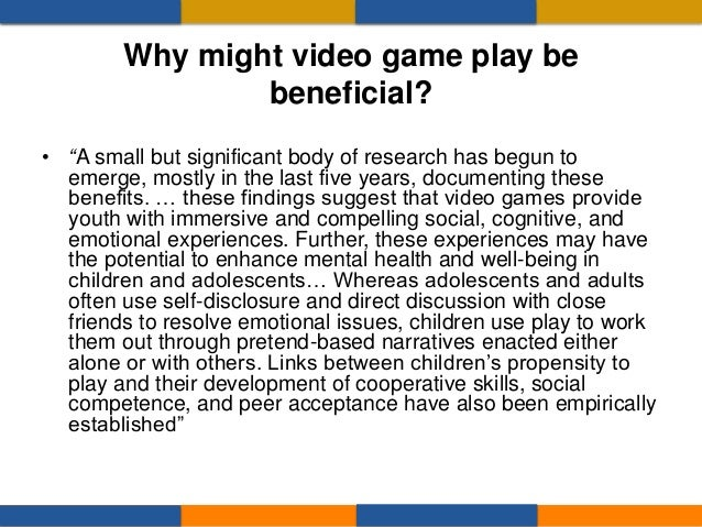 • The design of many video games, seems perfectly suited for promoting and teaching an effortful, persistent, approach to ...