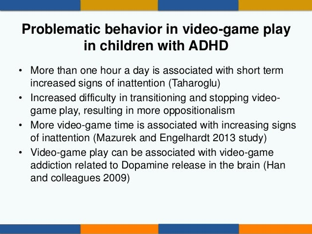 """Cautions Solutions Children with ADHD or attention problems may become """"hyper-focused"""" on video games and other digital me..."""