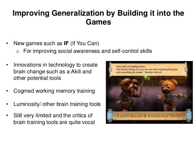 Strategies for using popular games and apps to improve executive functioning skills- 2 • Dosage and intensity -needs to be...