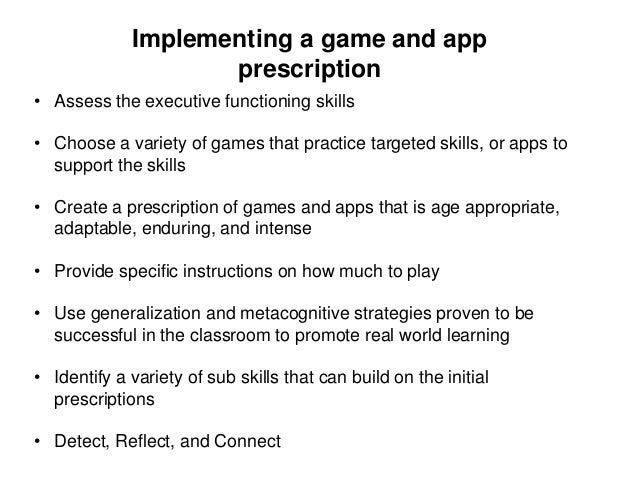 • Existing games are generally not designed to promote skills in children with ADHD. • Existing games focus on other thing...