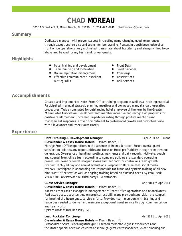 chad moreau resume
