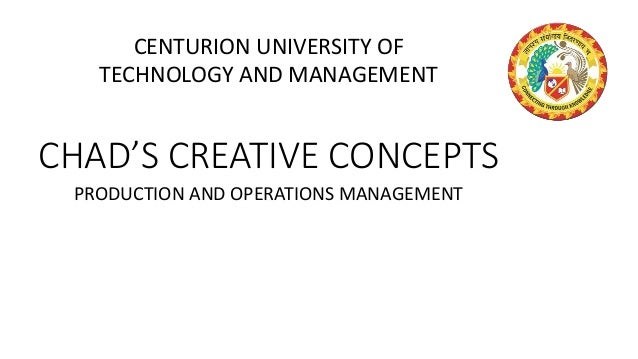 chads concepts case A case study on chads creative concepts essays and term papers available at echeatcom, the largest free essay community.