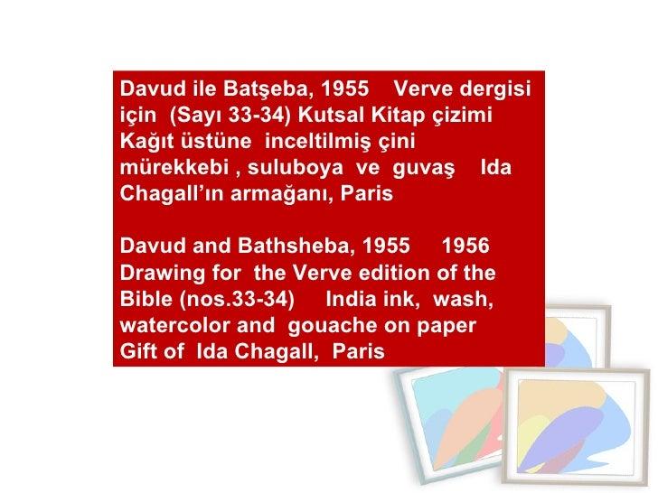 Davud ile Batşeba, 1955  Verve dergisi için  (Sayı 33-34) Kutsal Kitap çizimi  Kağıt üstüne  inceltilmiş çini mürekkebi , ...