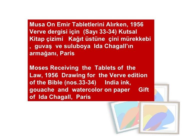 Musa On Emir Tabletlerini Alırken, 1956  Verve dergisi için  (Sayı 33-34) Kutsal Kitap çizimi  Kağıt üstüne  çini mürekkeb...