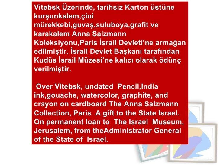 Vitebsk Üzerinde, tarihsiz Karton üstüne kurşunkalem,çini mürekkebi,guvaş,suluboya,grafit ve karakalem Anna Salzmann  Kole...