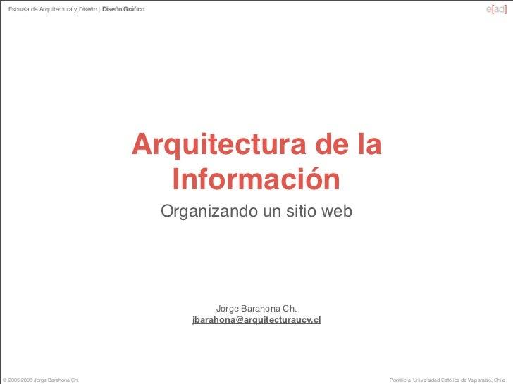 Escuela de Arquitectura y Diseño   Diseño Gráfico                                                  Arquitectura de la      ...