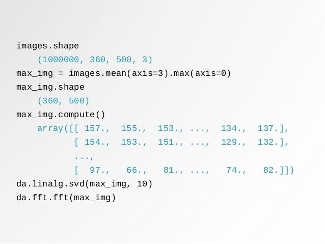 Parallel Computing With Dask - PyDays 2017