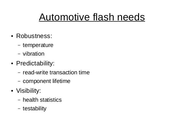 Flash in Vehicles: an End-User's Perspective Slide 2