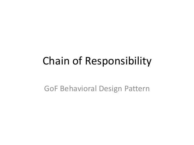 Chain of Responsibility GoF Behavioral Design Pattern