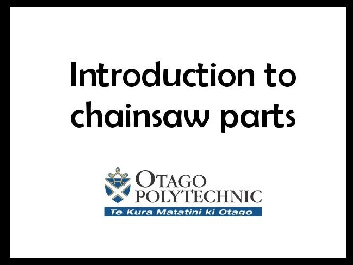 Chainsaw Parts Intro