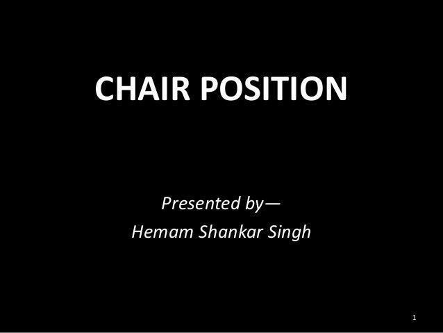 CHAIR POSITION Presented by— Hemam Shankar Singh 1