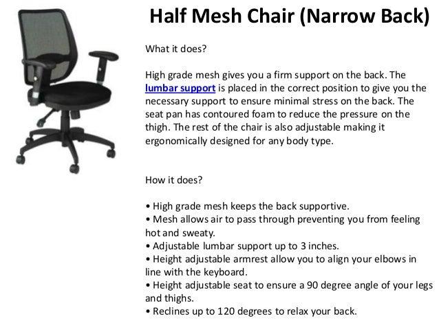 Beautiful ... 7. Half Mesh Chair ...