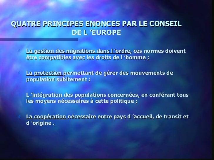 Les actions du Conseil de l'europe en matière de migration Slide 3