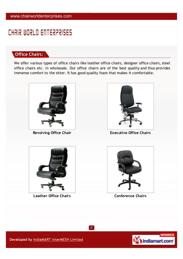 chair world enterprises mumbai office chairs