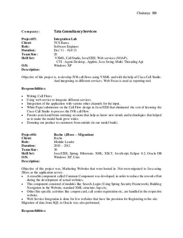 chaitanya r b resume