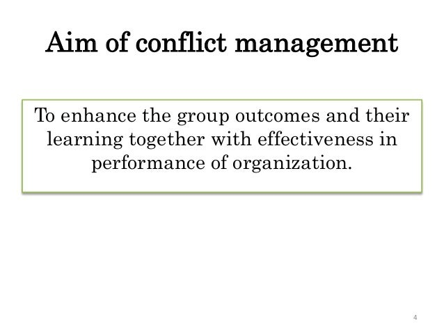 team conflict case study Results from a qualitative study of 57 autonomous teams suggest that groups that improve or maintain top performance over time share 3 conflict resolution tendencies: (a) focusing on the content of interpersonal interactions rather than delivery style, (b) explicitly discussing.