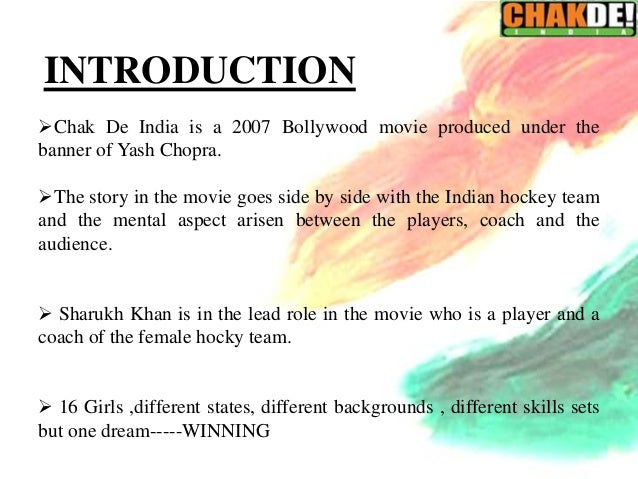 Relating 7 C's of Teamwork to Chak de India