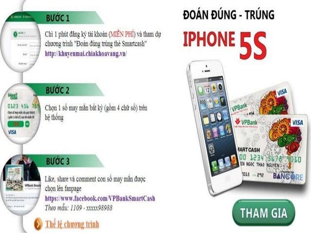 Chìa Khóa Vàng khuyến mại i phone 5S khi mở thẻ SmartCash Visa miễn phí Slide 2