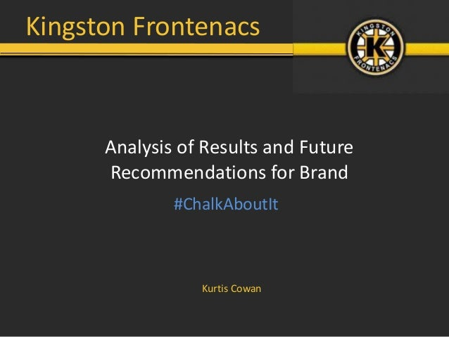 Kingston Frontenacs      Analysis of Results and Future      Recommendations for Brand              #ChalkAboutIt         ...