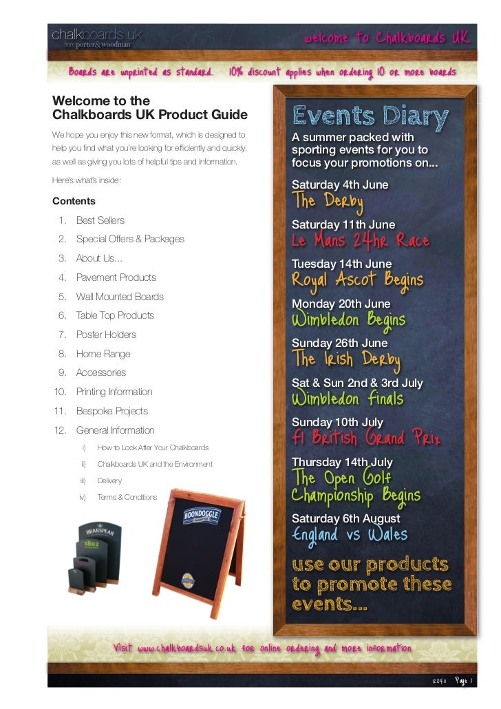 welcome to Chalkboards UK     Boards are unprinted as standard. 10% discount applies when ordering 10 or more boardsWelcom...