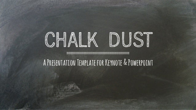 chalk dust presentation template