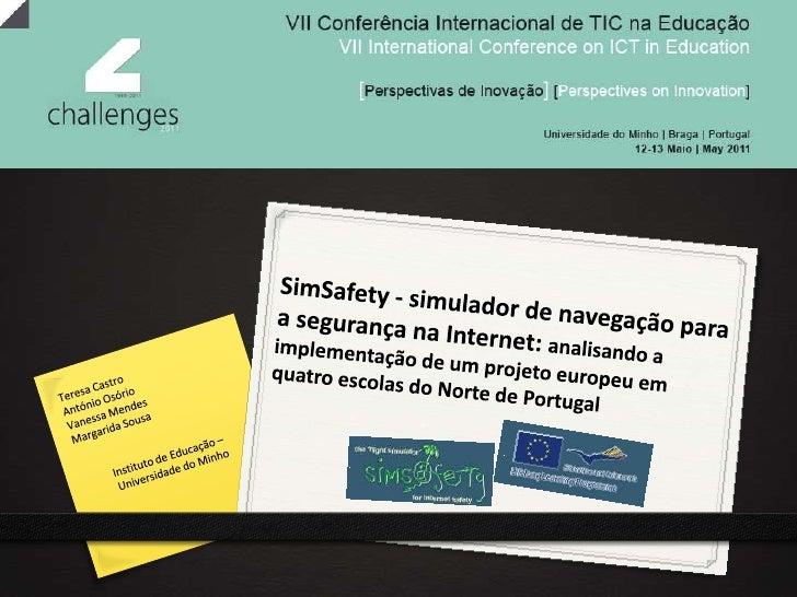 SimSafety - simulador de navegação para a segurança                                  na Internet:                         ...